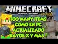 TOO MANY ITEMS COMO PC ACTUALIZADO - TRUCOS RAYOS X Y MAS - Minecraft PE