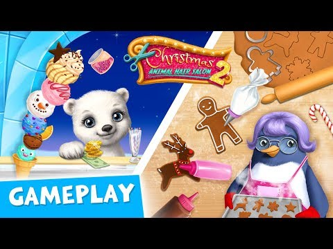 Frozen Desserts from Mama PenguinChristmas Animal Hair Salon 2 Gameplay  TutoTOONS Kids Games
