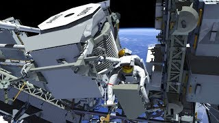 Animation of the First Expedition 61 AMS Spacewalk by NASA