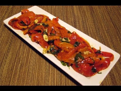 "Roasted Peppers Recipe / How to Make Roasted Peppers – Laura Vitale ""Laura In The Kitchen"" Episode 8"