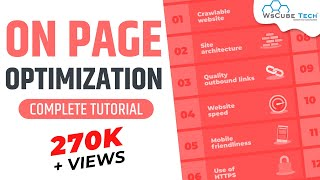 On Page optimization - 2018 | On page SEO | Website analysis | SEO - Part 4