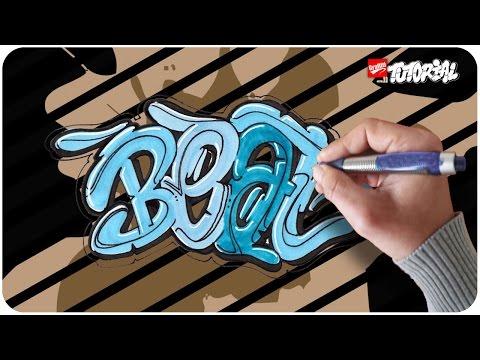 Graffiti Tutorial – Schritt für Schritt – Beat – Bubble Style