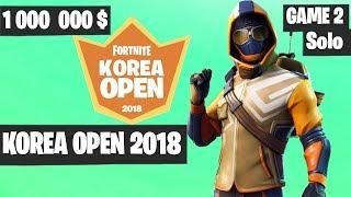 Nonton Fortnite Korea Open Solo Game 2 Highlights  Fortnite Tournament 2018  Film Subtitle Indonesia Streaming Movie Download