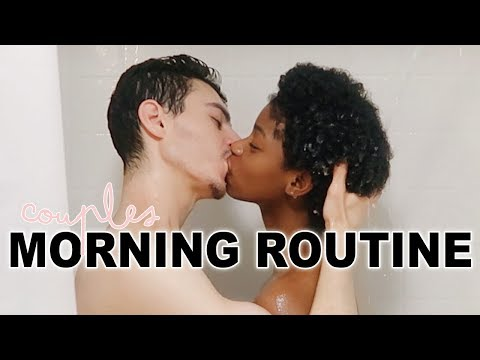 AN INTERRACIAL COUPLES MORNING ROUTINE