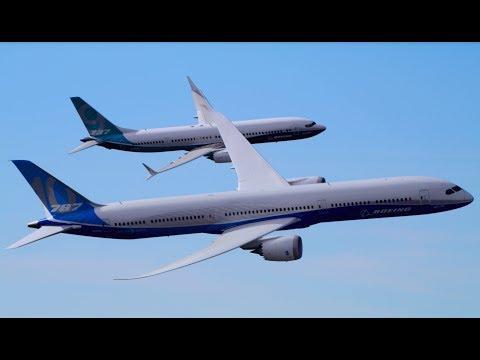На пути в Ле-Бурже: Boeing показал 737MAX9 и 787-10 Dreamliner в полете - Центр транспортных стратегий