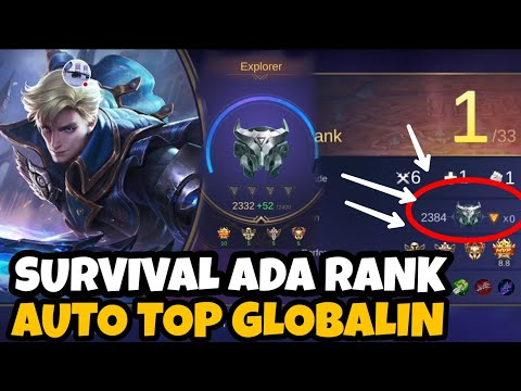 SURVIVAL MODE ADA RANKNYA?? AUTO TOP GLOBALIN SURVIVAL - Mobile Legends