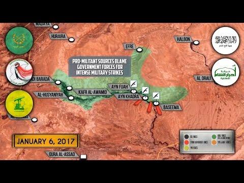 6 января 2017. Военная обстановка в Сирии. Турция усиливает наступление на Эль-Баб. Русский перевод. (видео)