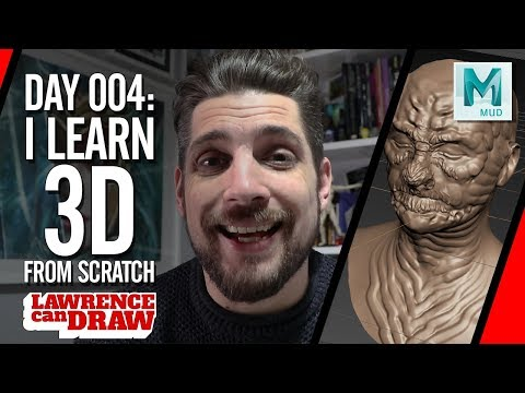 I Learn 3D modeling  - Video Diary Day 004 [Mudbox]