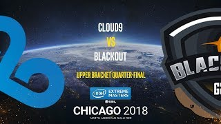Cloud9 vs BlackOut - IEM Chicago 2018 NA Quals - map2 - de_cache [SleepSomeWhile]