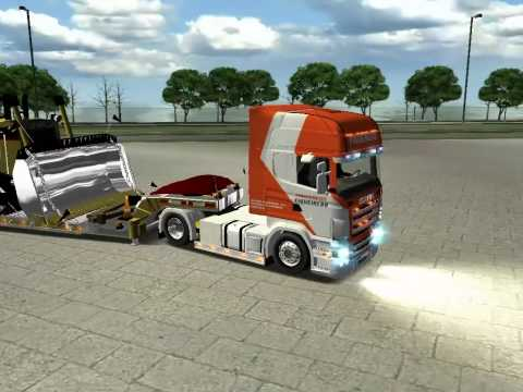 Scania Topliner R620 - scania topline R620 haulin no transporte de maquina.