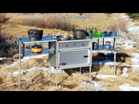 Setup & Breakdown: The Camp Kitchen w/Stove, by Trail Kitchens