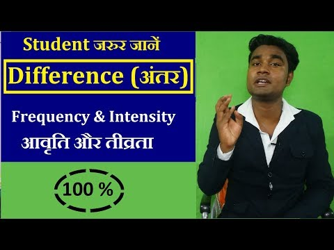 [doubt] What is difference between intensity & frequency ? tivrta aur aavriti me kya antar hai.