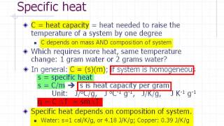 Physics Pre-lab Lecture: Specific Heat