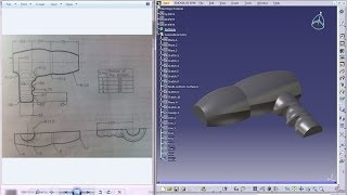 Catia V5 Tutorial|Product Engineering|How to create a Hair Dryer Cover|Simple steps Beginners|Part 1
