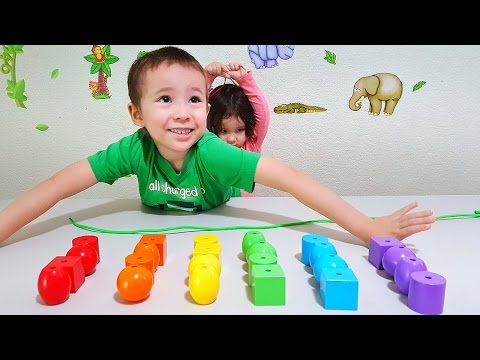 Video Toddlers Learn Colors With Huge Toy Beads for Children - Colourful Learning for Kids download in MP3, 3GP, MP4, WEBM, AVI, FLV January 2017