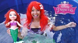 Download Video Disney Princess Ariel Toy Dunk Tank Challenge! || Disney Toy Review || Konas2002 MP3 3GP MP4