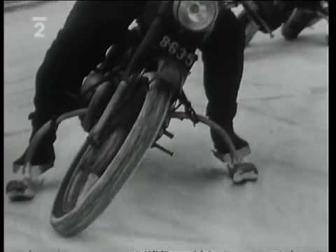 Československý filmový týdeník 1961 - motocykl Jawa na lyžích