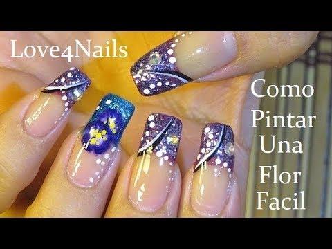 Decoracion de uñas - Como Pintar Una Flor  De Doble Carga  Uñas Decoradas