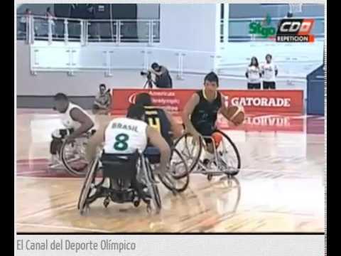 Brasil x Colombia - 3 e 4 Parcial - Periodo2014 - Basquete em Cadeira de Rodas
