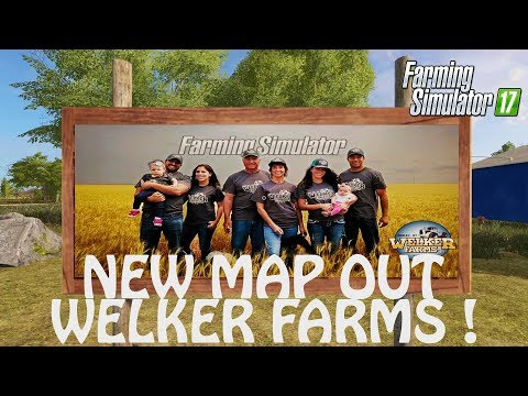 NEW MAP WELKER FARMS in Farming Simulator 2017 | THIS MAP IS HUUUGE | PS4 | Xbox One