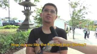 Travelers' Voice of Kyoto:FUSHIMI INARI Area Interview 009