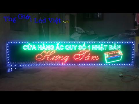 Biển led cho cửa hàng ắc quy Hưng Tám - Tp Sơn La