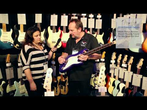 Custom (musician) - Harmony Central talks with Fender during the 2014 NAMM Show to discuss the Fender Custom Shop Custom Deluxe Stratocaster Electric Guitar. Filmed at the 2014 ...