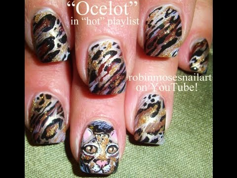 Ocelot Nails! Hot New Trendy Animal Print!