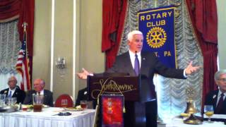 York (PA) United States  city photos : PA Gubernatorial candidate Tom Corbett, Rotary Club of York, PA, Meeting 9/17/2014