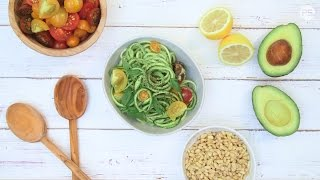 Inflammation-Reducing Avocado Pesto Zoodles by POPSUGAR Food