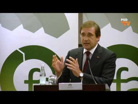 """""""Gostaria que tivéssemos seguido uma linha de tempo mais prudente e favorável, sem tantos riscos"""", Pedro Passos Coelho na conferência FAE em Lisboa"""
