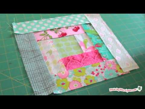 tutorial patchwork - log cabin quilt block...