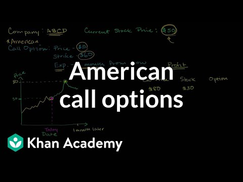 Options - Learn more: http://www.khanacademy.org/video?v=nnl3x1wo25g American Call Options.