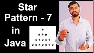 Star Pattern - 7 Program (Logic) in Java by Deepak