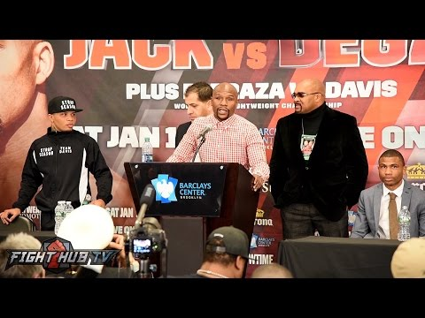James Degale vs Badou Jack Full Post Fight Press Conference hosted by Floyd Mayweather (видео)