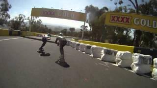 Bathurst Australia  city photos gallery : Downhill Skateboarding at Newton's Nation - Mt. Panorama, Bathurst, Australia