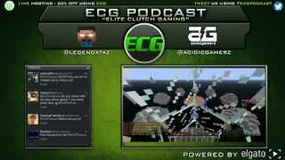 #ECGPodcast Episode #9 | Minecon Stuff, Minecraft Stuff, Randomness | LIVE Mini-Games