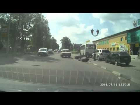 Сбил мотоциклиста и сбежал