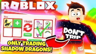 I ONLY Traded SHADOW DRAGONS in Adopt Me! NEW Adopt Me Halloween Update 2019 (Roblox)