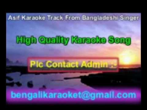 Chokheri Jole Lekha Koto Je Karaoke Asif Bangladeshi Album Song