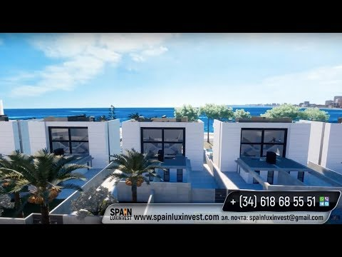 New high-tech villas of the most advanced technology on the 1st sea line at the Costa Blanca!