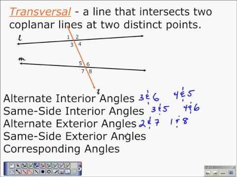 Geometry Properties Of Parallel Lines 3 1 Part 2 Algebra And Geometry Help