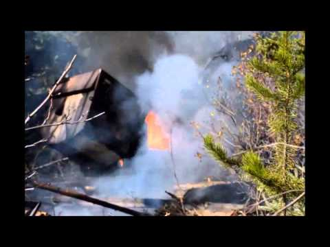 Feller Buncher Fire Destroyed in Seconds-Not a Hike you Wanna Be On