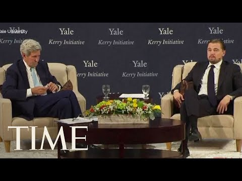 Leonardo DiCaprio Talks With John Kerry About America's Future & Climate Change At Yale | TIME