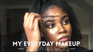 MY EVERYDAY MAKEUP TUTORIAL| WOC| KAISERCOBY