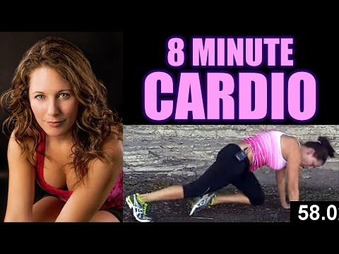 Video 8 Minute Cardio Workout at Home, Exercise Routine & Fitness Training for Fat Burning download in MP3, 3GP, MP4, WEBM, AVI, FLV January 2017