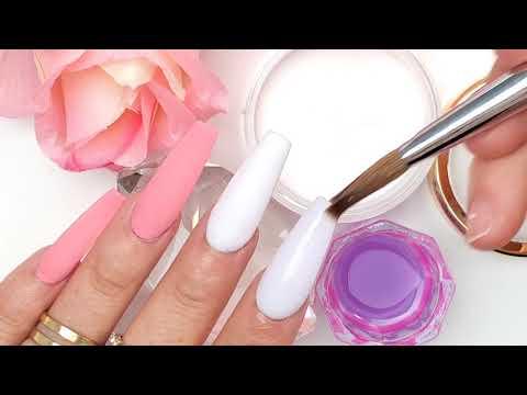Uñas acrilicas - Uñas Acrílicas Rosa castilla Efecto porcelana con foil Estampado