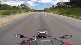 5. HONDA NC700X TOP SPEED RUN - 6th gear REV LIMITER