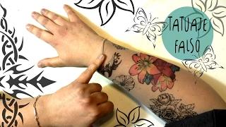 Hola FANTASTICOS amigos! En este tutorial vamos a hacer un tatuaje falso que parece verdadero utilizando pantis y marcadores! Esta super facil de hacer, barato y sobretodo SIN DOLOR! MATERIAL NECESARIO:-Pantis transparentes-boligrafo negro a base de alcohol -marcadores a base de alcohol (Sharpies o Copic)