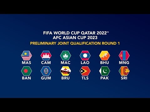 FIFA World Cup Qatar 2022 & Asian Cup 2023 Preliminary Joint Qualification Round 1 - Official Draw